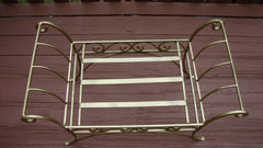 [SOLD] Gold Painted French Art Deco Scroll Iron Metal Bench