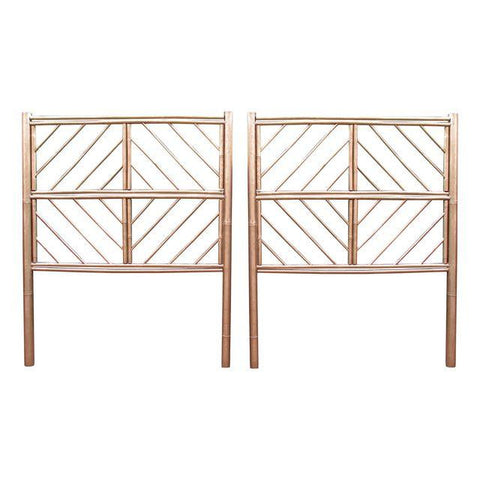 [SOLD] Gold Chippendale Bamboo Twin Headboards