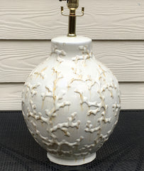 Cream White Coral Ceramic Lamp Beachhouse Coastal