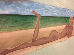 "Beach Babe No. 1 ""Emerald"" Acrylic Painting by Alaina Suga Lane Williams"