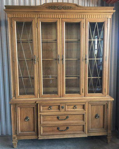 SOLD - French Provincial Neoclassical China Cabinet by Thomasville