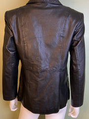 Black Leather Jacket Style & Co Petites Size P [Small 0 2 4]