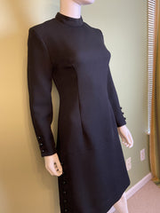 Vintage Herman Marcus Black Mod MCM Mad Men Dress