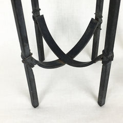 French Art Deco Iron Candle Holders - a Pair