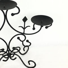 1950s French Art Deco Iron Candle Holder Candelabra