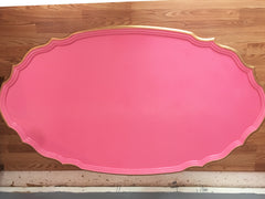 Deco Glam Hot Pink Lacquer Coffee Table