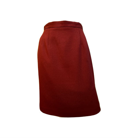 Dark Red Business Skirt Talbots