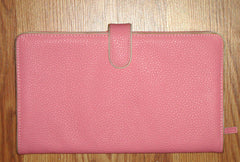 [sold] NWOT PINK LEATHER JEWELRY ACCESSORIES TRAVEL CARRIER CLUTCH ORGANIZER