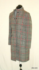 TAHARI ARTHUR S LEVINE PETITE GRAY PLAID WOOL COAT LINED 10P LC-2020