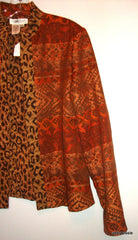 Coldwater Creek Reversible Jacquard/ Exotic Tapestry Jacket Small