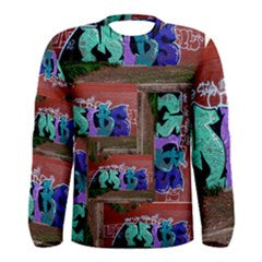 S. Lane Men Brick Graffiti Long Sleeve Stretch Tee
