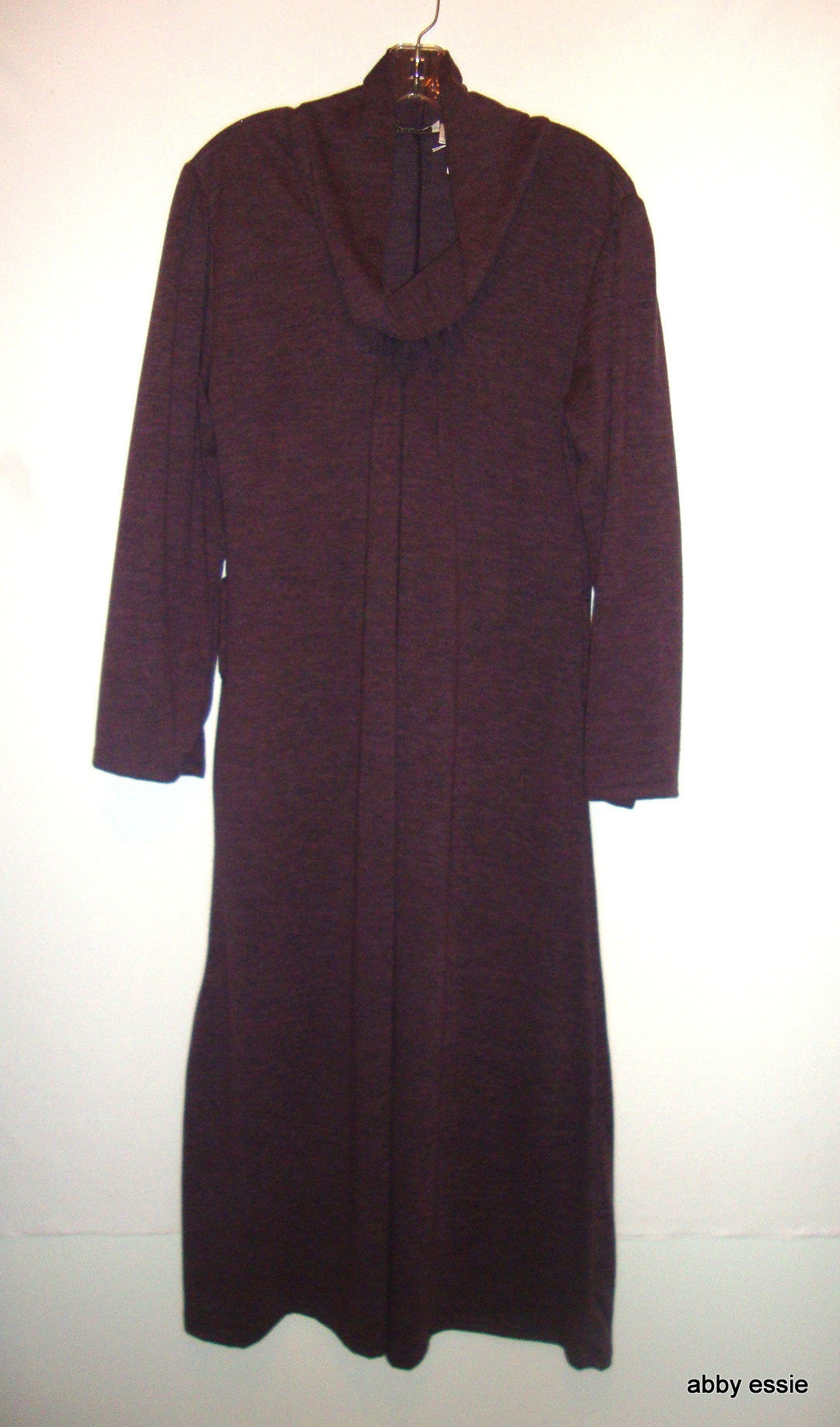 NICE PURPLE LONG TURTLENECK EGGPLANT KNIT SWEATER LIKE DRESS SZ PLUS 14 LARGE