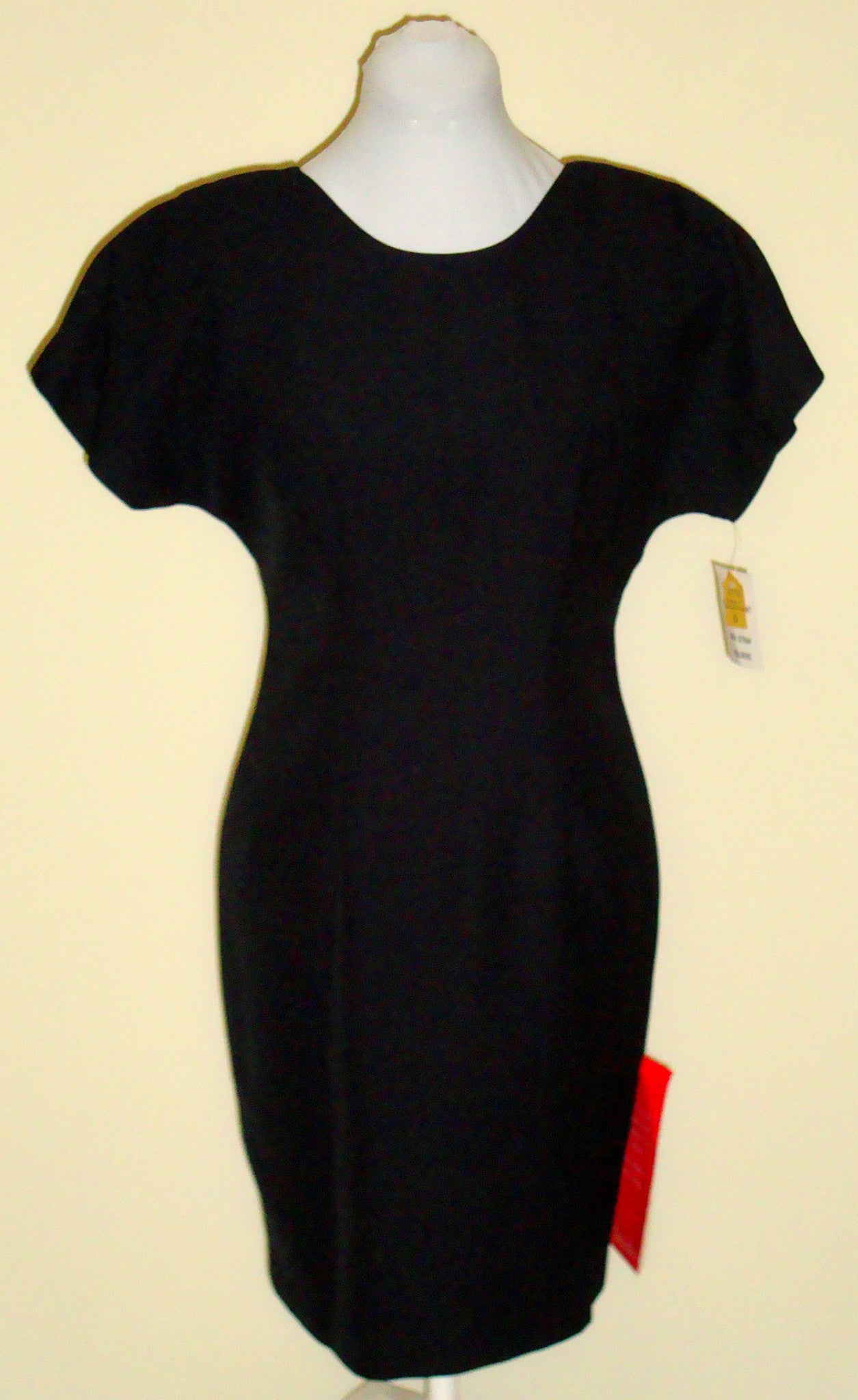 NWT CHADWICK'S BLACK CREPE CAREER COCKTAIL DRESS SMALL 6P