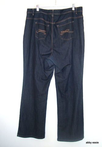 STYLE AND CO JEANS- DARK BLUE DENIM JEANS bootcut 16W  PLUS