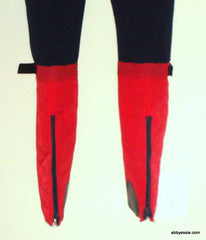 VINTAGE SUBELLO NAVY BLUE RED SKI PANTS BOND GIRL 70S SWISS SIZE 28 SMALL