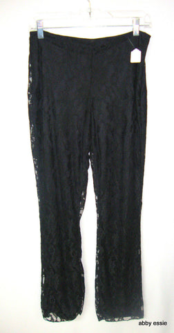 MOSSIMO BLACK LACE COCKTAIL HOSTESS GREAT GATSBY GLAM PANTS SMALL [4 6] LP-178