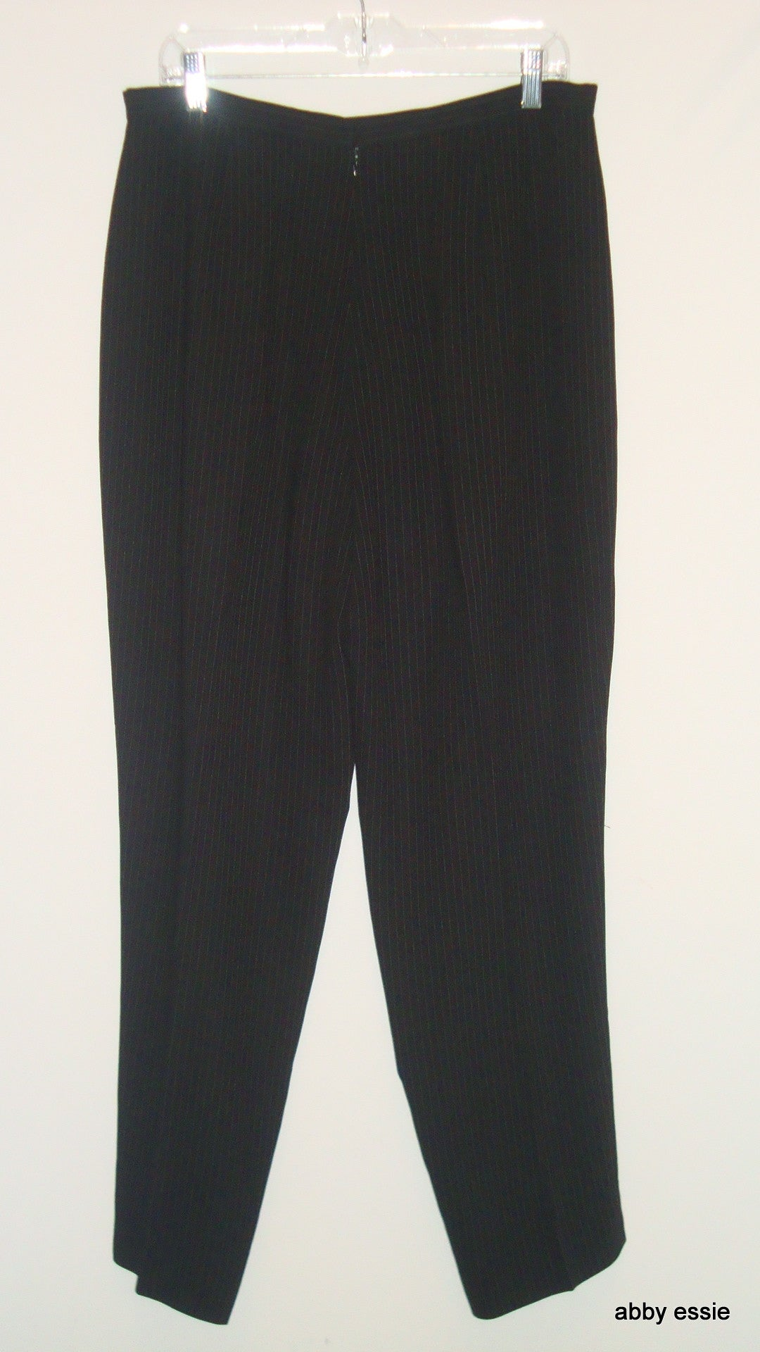 EMANUEL UNGARO BLACK WHITE PIN-STRIPED DRESS CAREER PANTS US 16 / EU 50