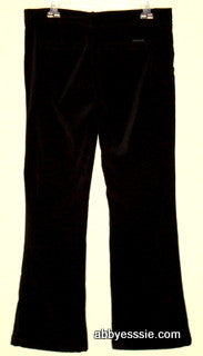 Sanctuary - Black Velvet Stretch Pants