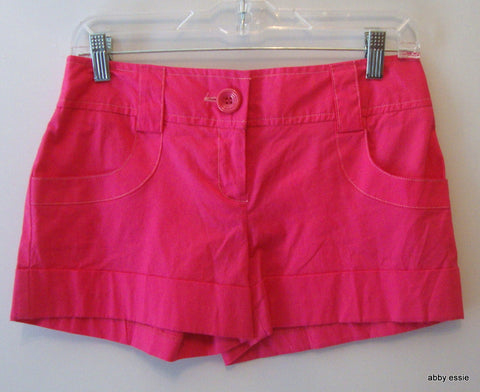 [sold] [NWT] STAR CITY JEANS HOT PINK SHORT SHORTS SZ 11 JUNIORS