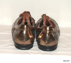 Simonelli Brown Bronze Sequin & Metallic Sneakers Sz 9 - 9.5 – Shoes