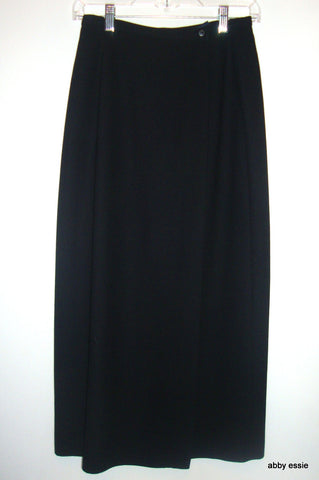 GAP - LONG BLACK WRAP SKIRT SZ 4 SMALL