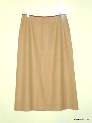 TALBOTS TAN CAMEL HAIR SKIRT SIZE 10P 100% PURE CAMEL HAIR