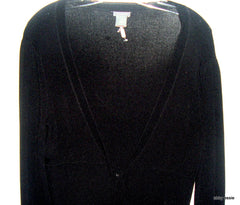 NWOT ANN TAYLOR BLACK KNIT 3/4 SLEEVES WRAP BELTED CAREER SWEATER MEDIUM