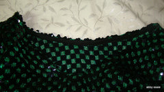 [SOLD] VINTAGE GREEN AND BLACK SEQUIN SWEATER [LT-2443]
