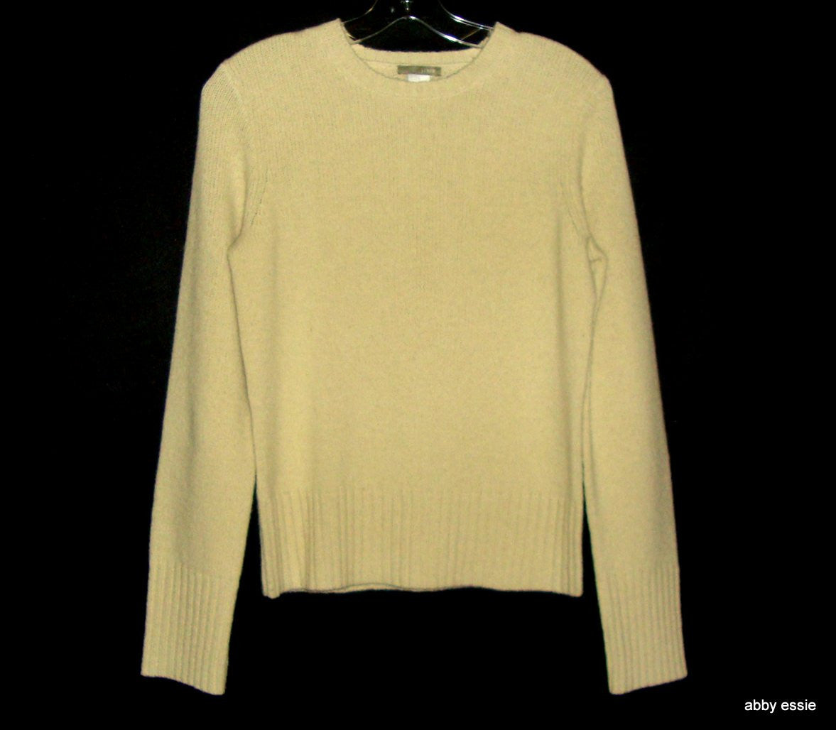 J CREW TAN WOOL CREWNECK vintage style SWEATER SMALL [4 5 6 ] 100% WOOL