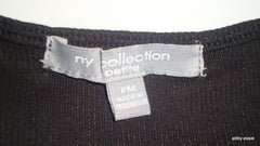 NY COLLECTION PETITES BLACK SEQUIN TANK MEDIUM