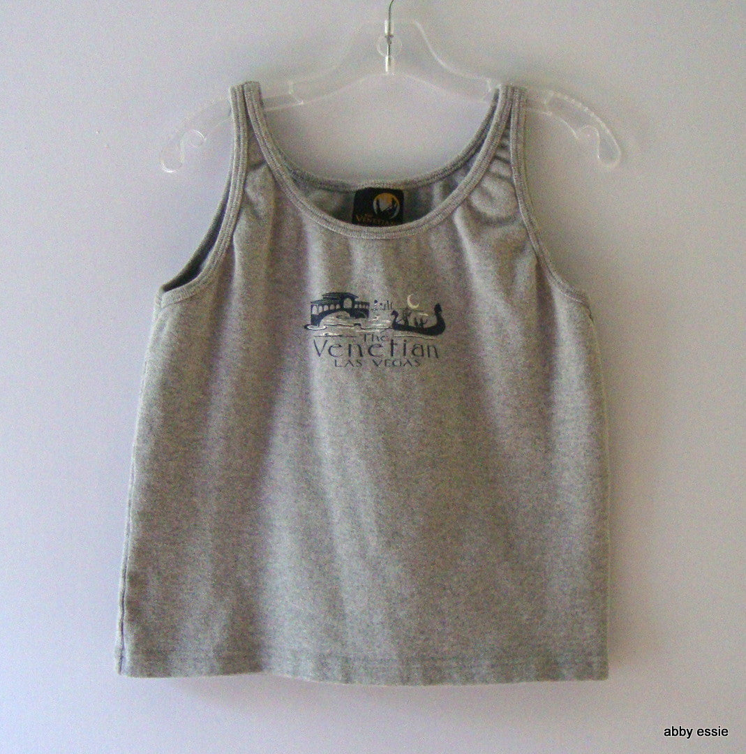 THE VENETIAN GRAY STRETCH TANK WORKOUT LAS VEGAS SMALL XS LT-2760