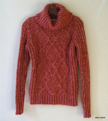 ST JOHNS BAY PINK MAUVE SWEATER SMALL [4 5 6] LT-2787