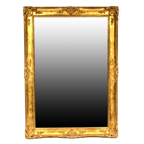 La Barge Gold Tone Beveled Glass Mirror