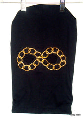 NEW Designer Handmade HIP HOP ROCK STAR METAL BAND BLACK KNIT GOLD CHAIN EYE SKI MASK COSTUME HAND