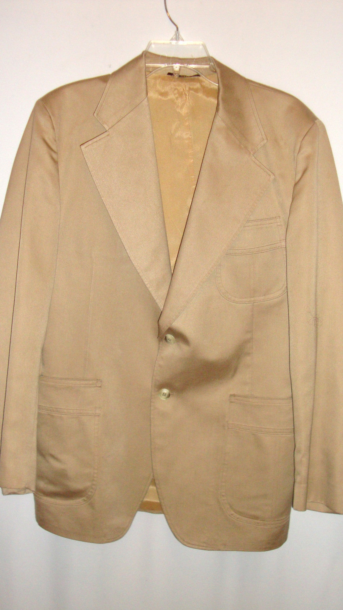 Vintage MacGregor Tan Brown Khaki Sateen Cotton Blazer LARGE