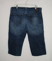MOSSIMO - MENS BLUE DENIM JEANS CUT-OFF SHORTS SIZE 36 WERE HUDSON BOOTCUT INSEAM: 20""