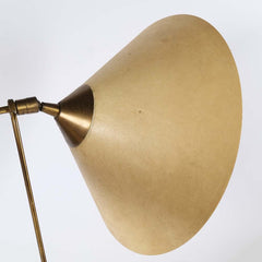 SOLD - Mid-Century Modern Scandinavian Wall Mount Swing Lamp With Brass & Fiberglass