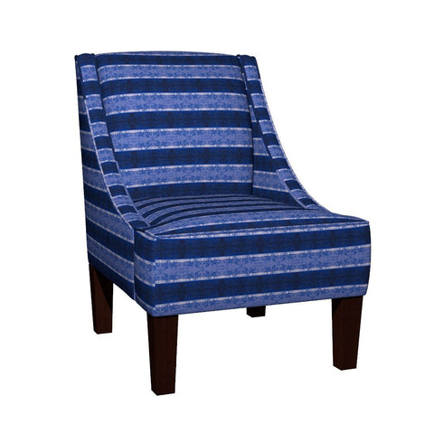 Regency I Stripes Armchair Side Accent Dining Chair