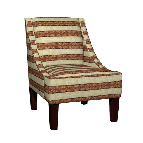 Regency II Stripes Accent Armchair in Eco Canvas