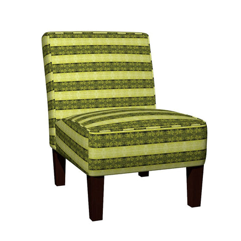 Regency II Stripes Slipper Chair