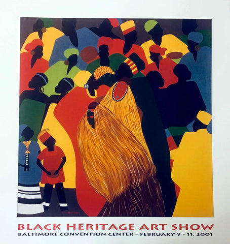 "1996 Black Heritage Art Show ""Celebration"" Poster by Synthia Saint James"