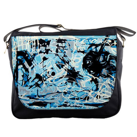Storm Blue White Gray Silver Black Messenger Bag