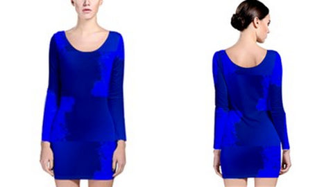 Suga Lane Dreams Royal Blue Long Sleeve Dress