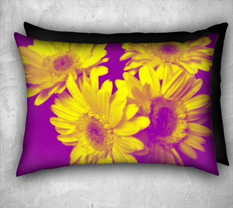 Suga Lane Floral Delights Yellow Purple 20 x 14 pillow