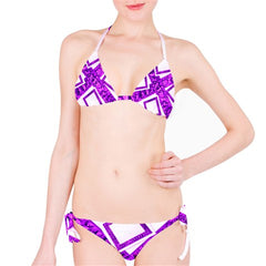 Suga Lane Limited Edition Purple & White Logo Bikini Swimsuit