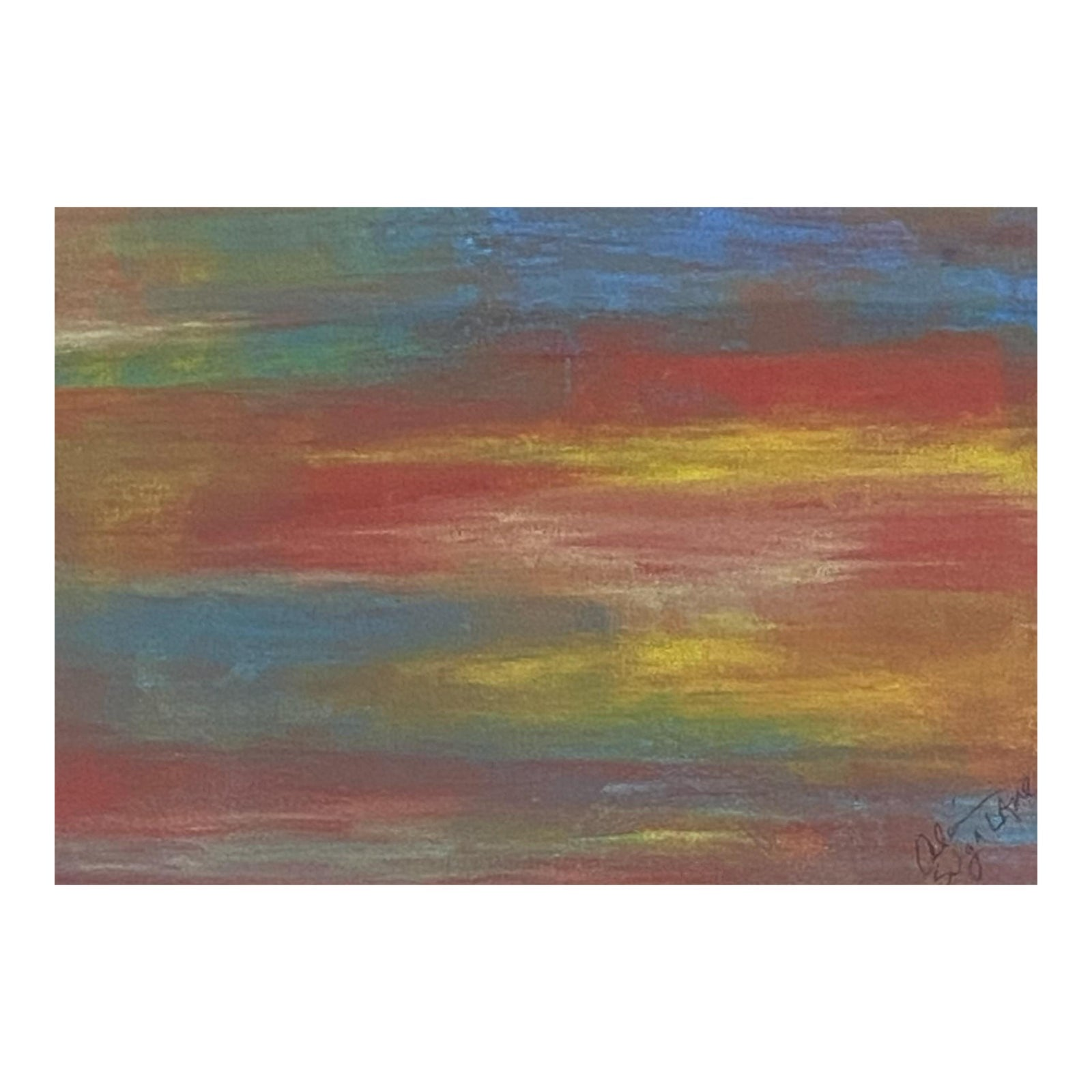 Original Abstract Acrylic Painting by Suga Lane From Soothing Trio Collection