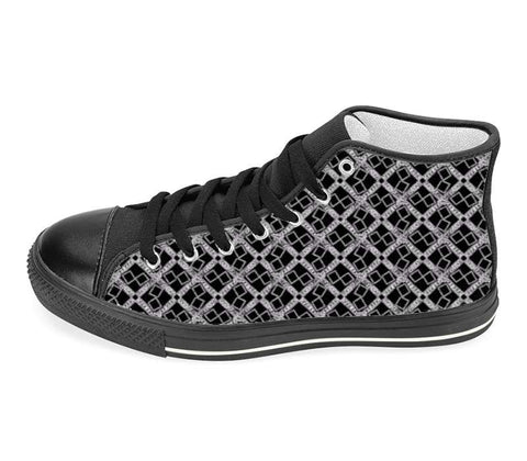 Suga Lane Black Silver Logissimo High Top Sneakers
