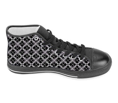 S. Lane Black Silver Logissimo High Top Sneakers