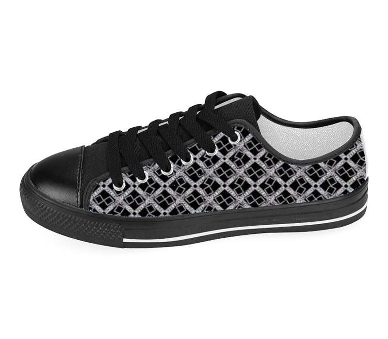 Suga Lane Black Silver Logissimo Low Top Sneakers