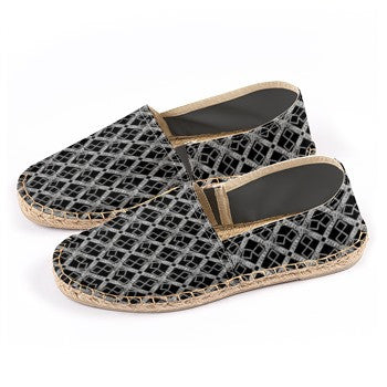 S. Lane Black Silver Logissimo Canvas Espadrilles [1st Edition]